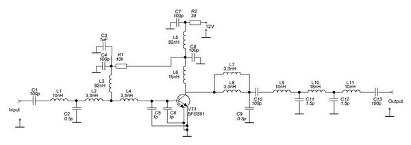 Принципиальная схема Driver for PA 23 cm