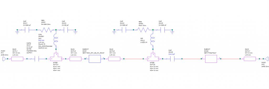 LNA 70 cm SAV-541 schematics