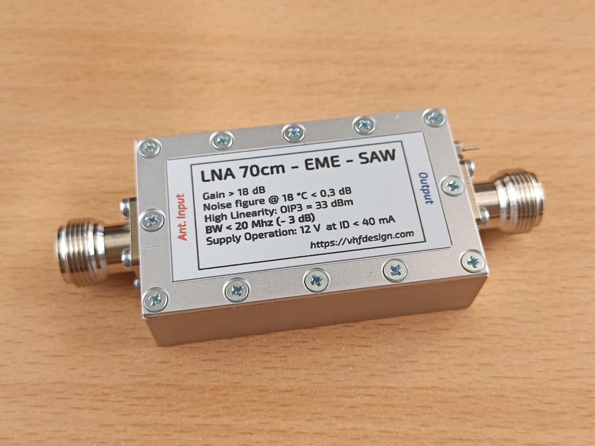 LNA 70cm EME SAV541 SAW filter N-female