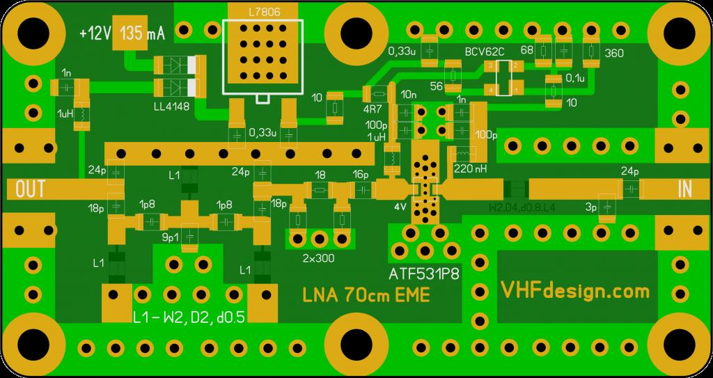 PCB LNA 70cm, ATF-531P8