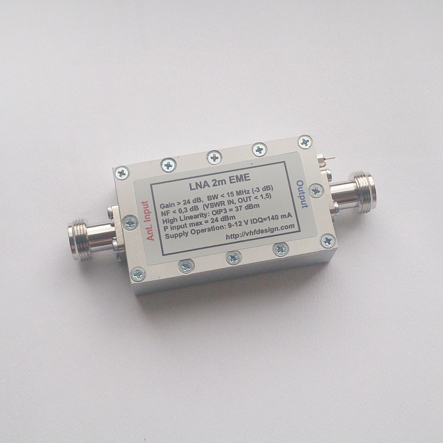 High OIP3 LNA EME ATF-531P8 with BPF filter for 2m 70cm bands