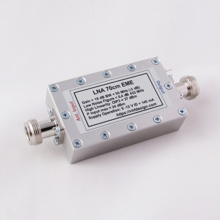 High OIP3 LNA EME ATF-531P8 with BPF filter for 2m 70cm