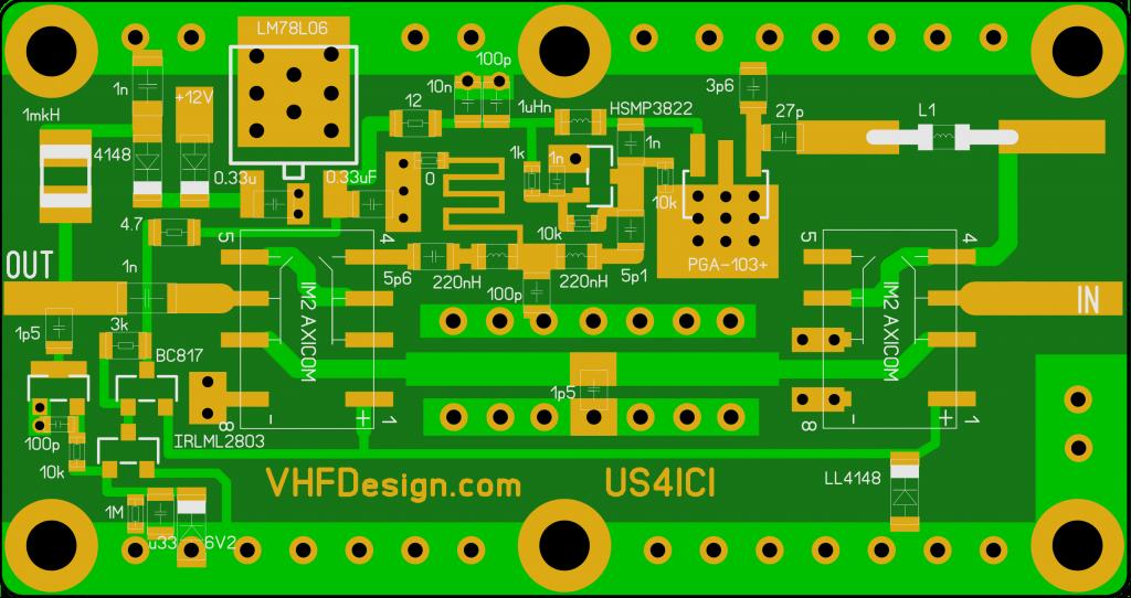 Fig. 4 LNA 2m RF VOX PCB
