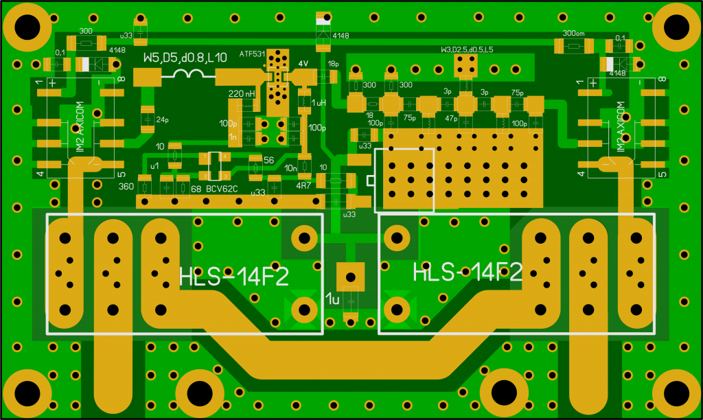LNA 2m QRO ATF-531P8 based layout