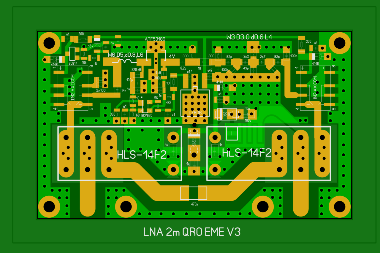 LNA 2m QRO ATF-53189 based layout (update from 2020-01-28)