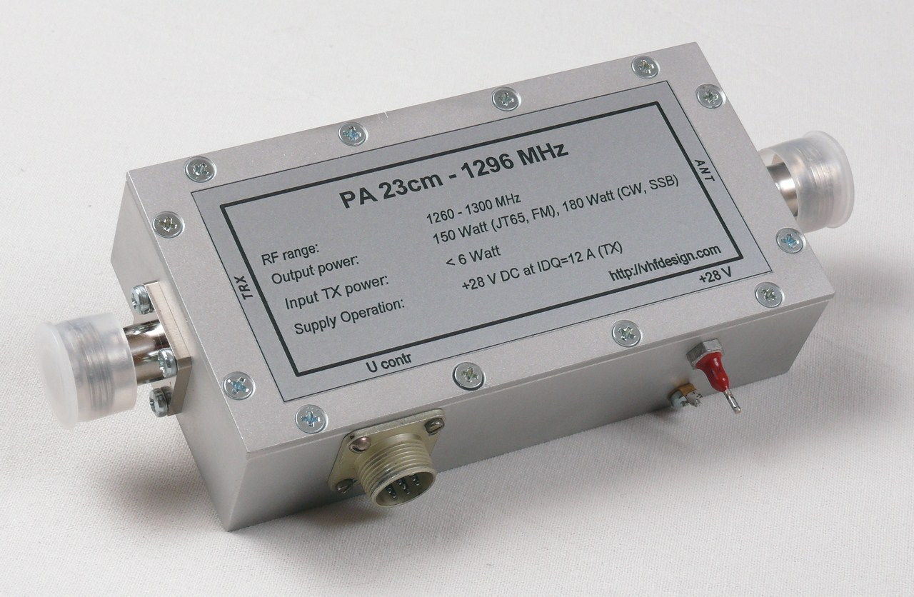 Pa 23cm 1296 Mhz Mrfe6s9160 150 Watt Vhf Design 300w Fm Rf Amplifier Circuit P Marian Amplifiers 150w Front View W O Radiator