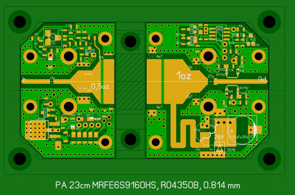 PA 23cm 150W PCB layout