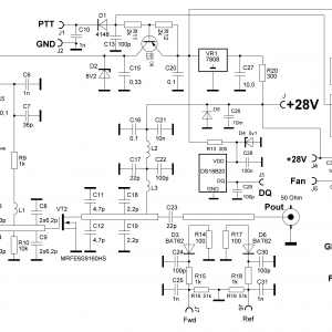 Принципиальная схема PA-23cm-150W