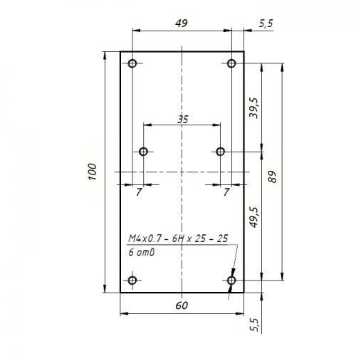 PA-23cm-150W drawing