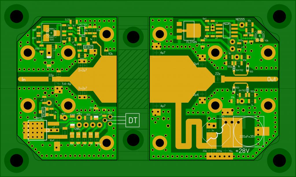 PA-23cm-150W PCB layout
