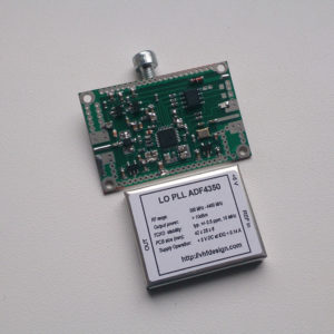 PCB LO PLL ADF4350 appearance (with on-board TCXO)