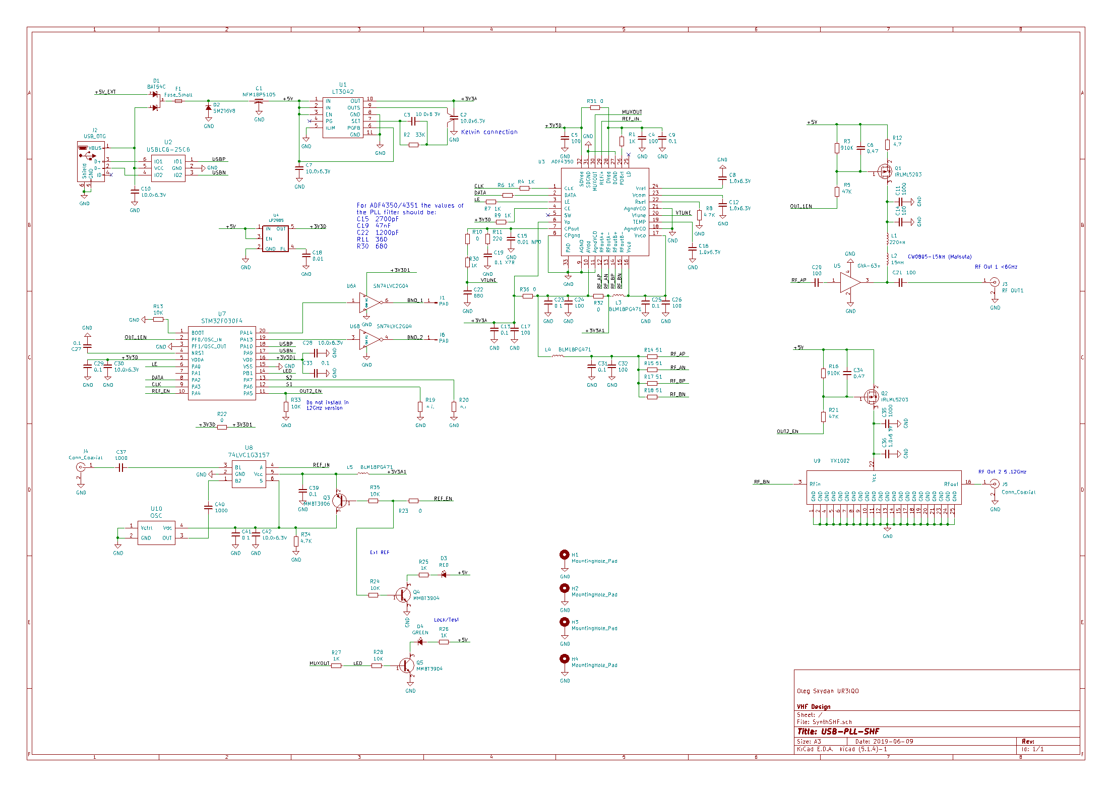PLL USB schematics (ver. 4 from 2019-09-14)