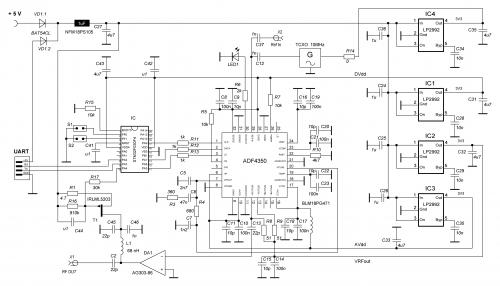 PLL USB ADF4350 schematics