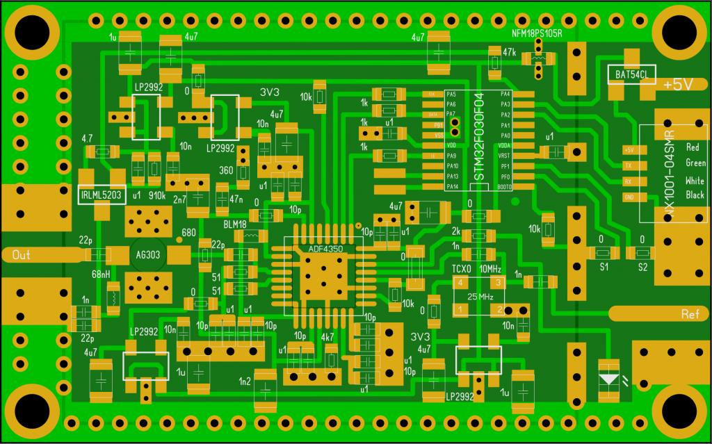 PLL USB ADF4350 layout