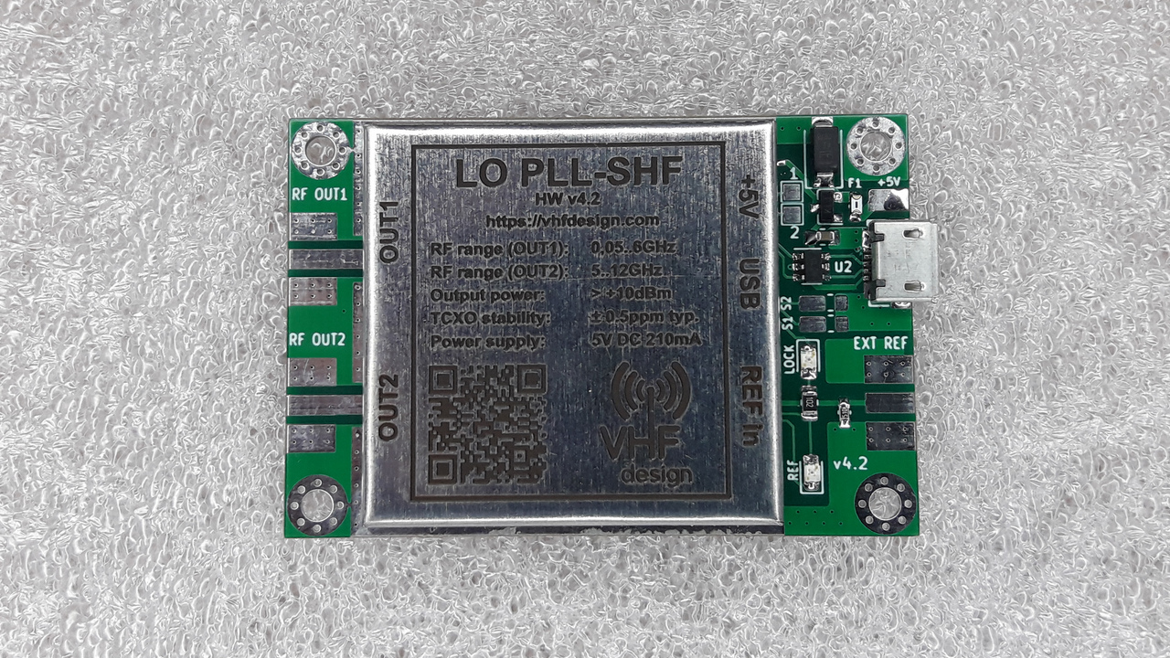 LO-PLL-SHF-USB-PCB appearance (HW ver. 4.2 from 2019-11-06)