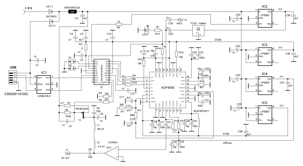 Принципиальная схема PLL USB (версия 3.2 от 2018-09-14)