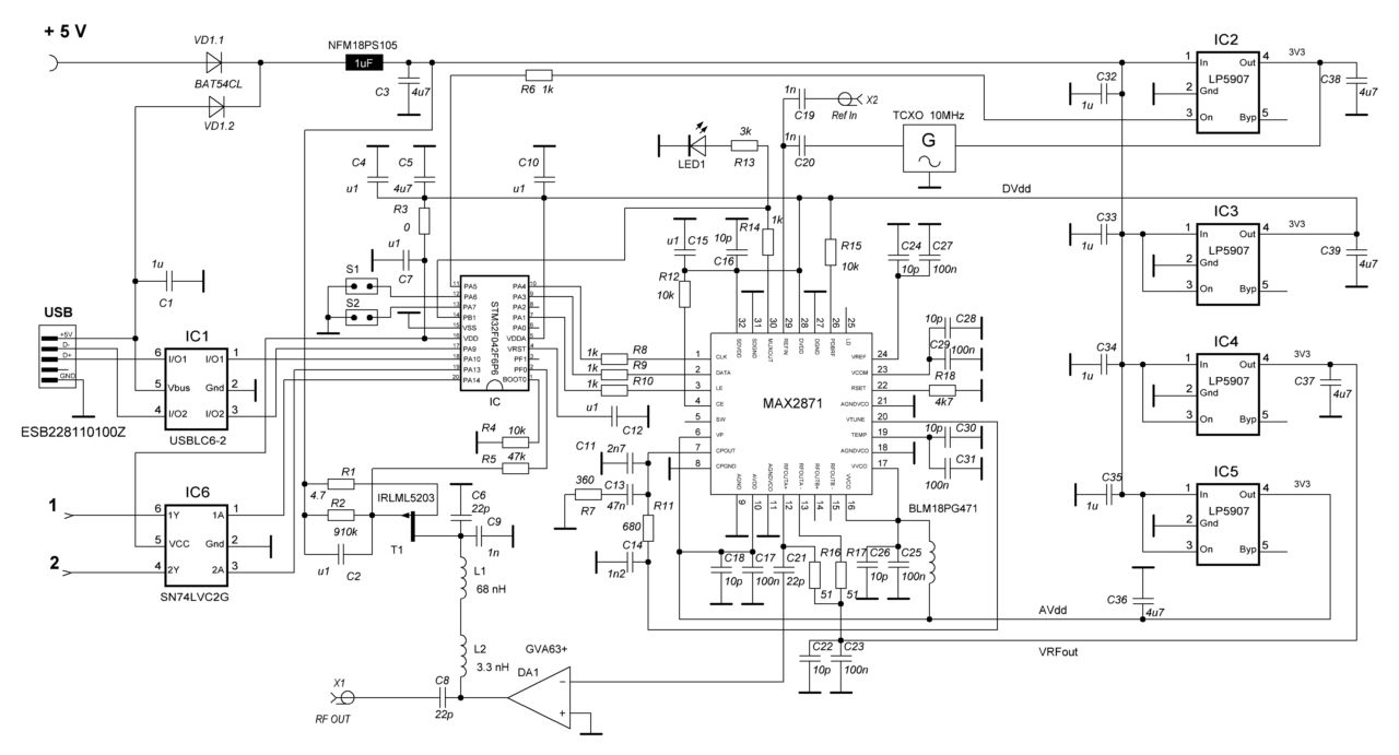 PLL USB schematics (ver. 3.2 from 2018-09-14)