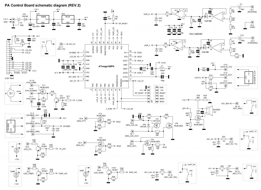 PA controller REV2 schematics