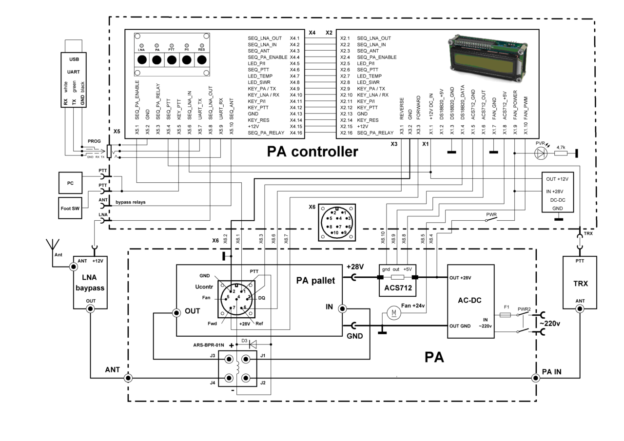 PA controller REV3 connections schematics (update from 2019-03-01)