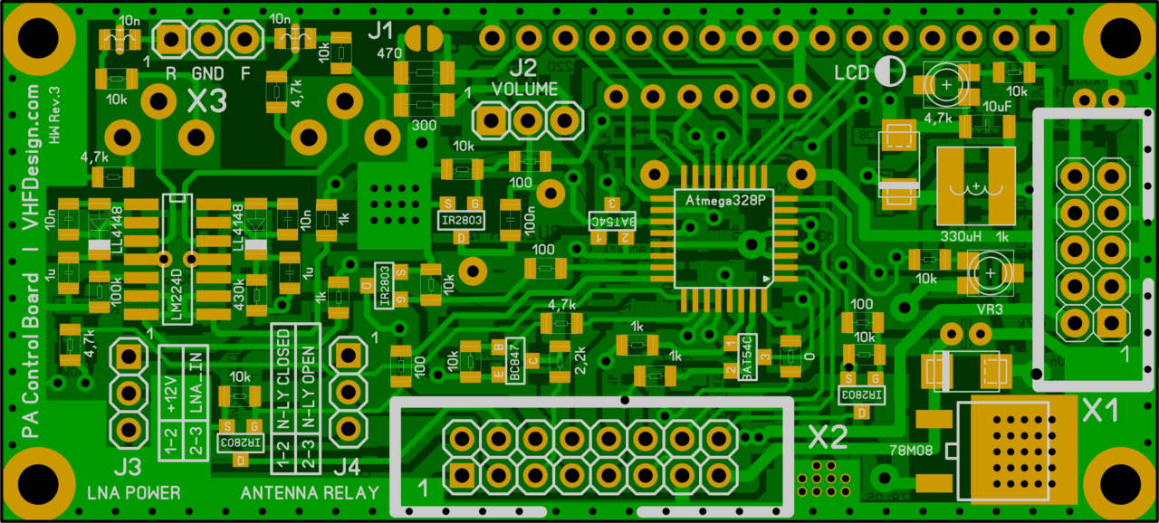 PA controller REV3 layout (update from 2019-03-01)