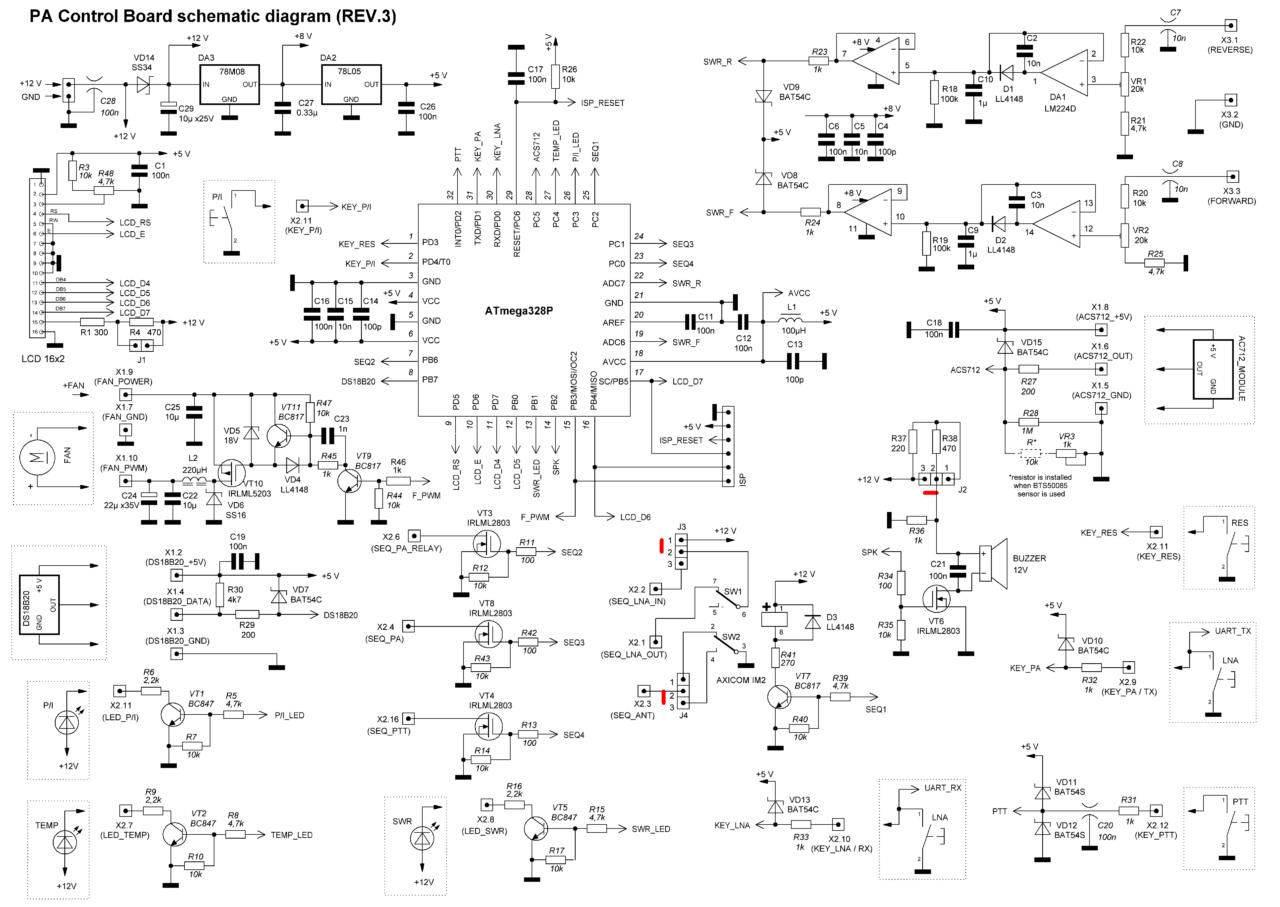 PA controller REV3 schematics (update from 2019-03-01)
