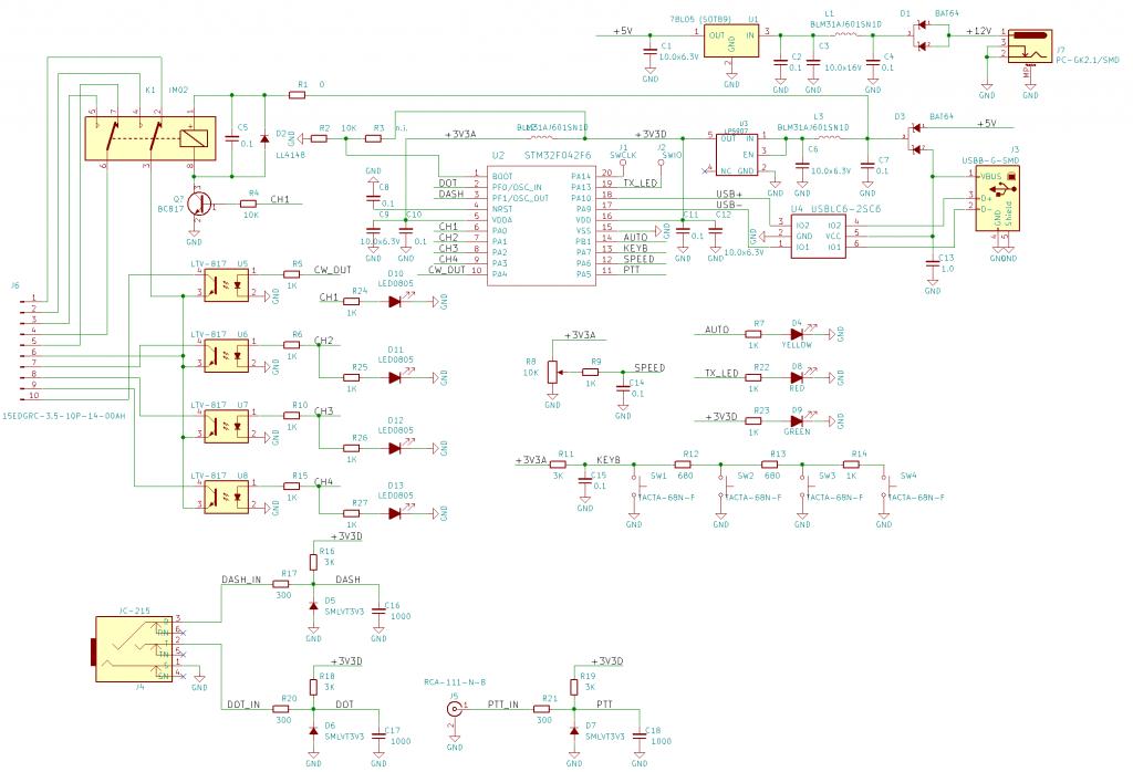 CW Key Sequencer schematics