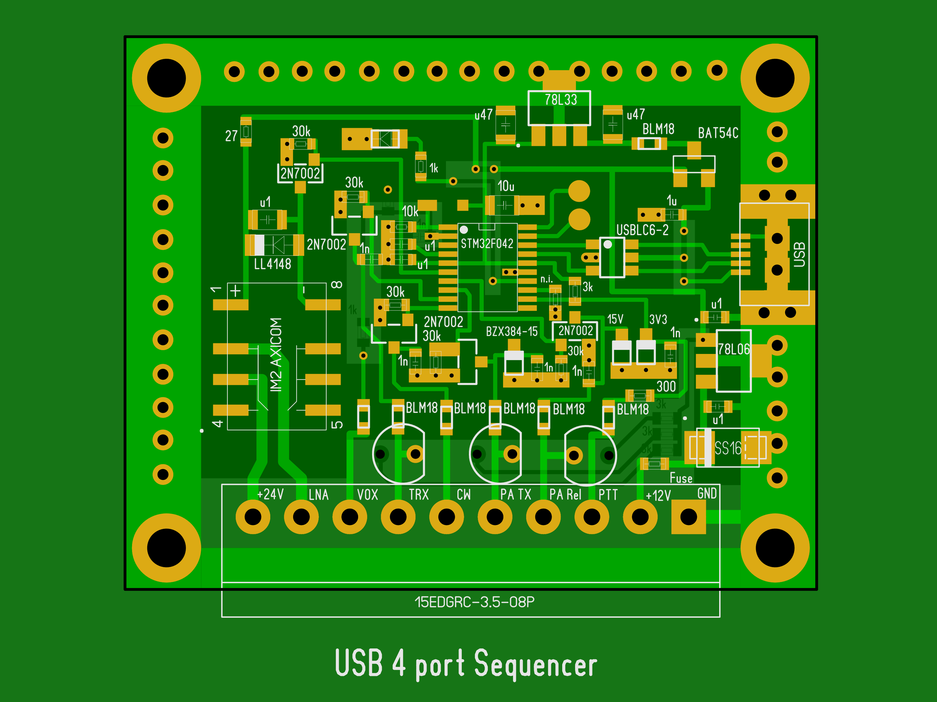 Sequencer with USB port layout