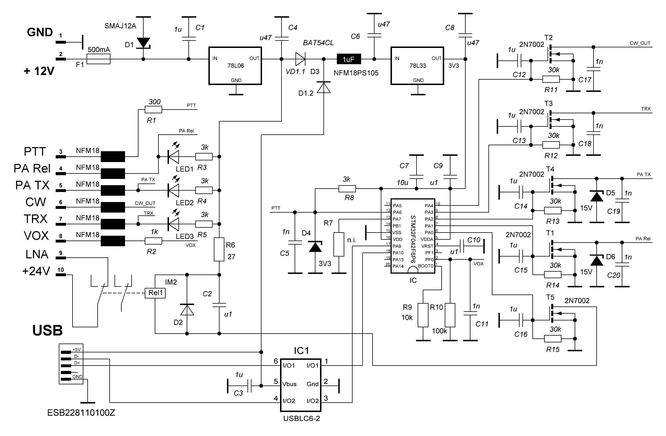 Sequencer with USB port schematics