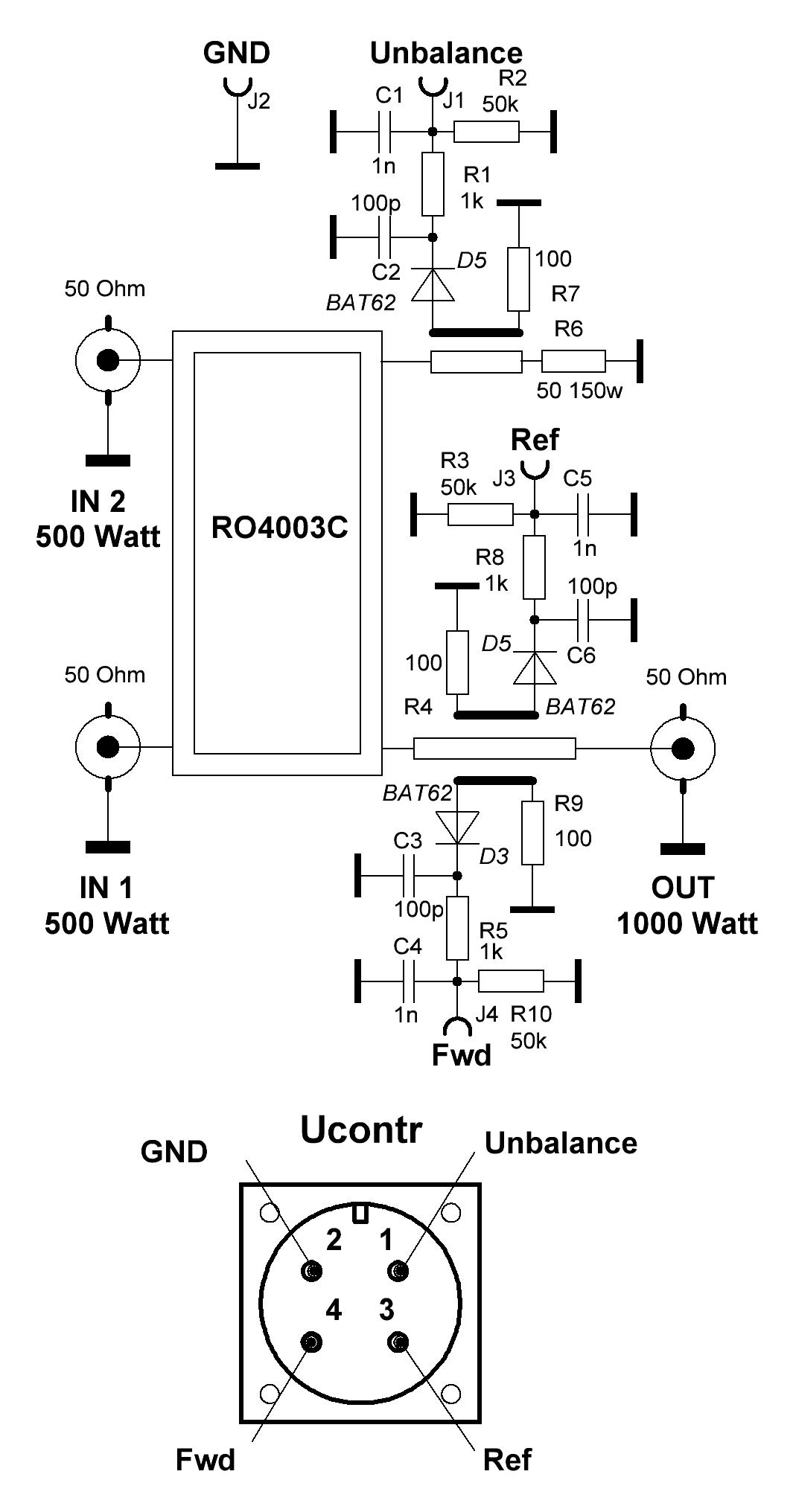 High Power 23cm combiner schematics from 2020-10-16